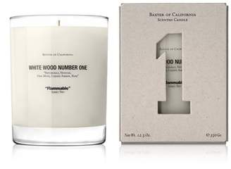 Baxter of California White Wood Number One Flammable Scented Candle