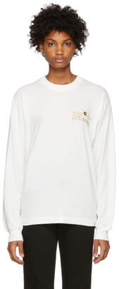Alexander Wang White Long Sleeve T-Shirt