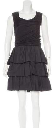 Balenciaga Ruffled Sleeveless Dress