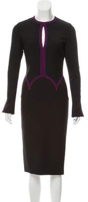 Gianni Versace Long Sleeve Wool Dress