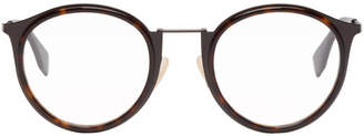 Fendi Brown Round Glasses