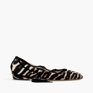 Lace-up flats in leopard calf hair $268 thestylecure.com