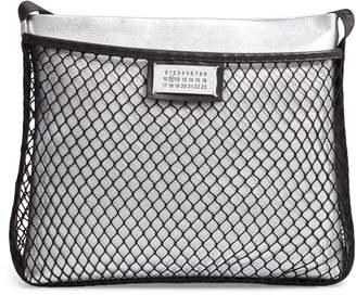 Maison Margiela Mesh & Metallic Faux Leather Messenger Bag