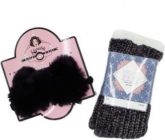 Minx Ny Minx Velvet Vision Slipper Sock And Furry Sleep Mask