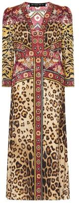 Etro Leopard-print midi dress
