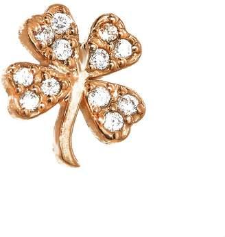 Jennifer Meyer Diamond Clover Single Stud Earring - Rose Gold