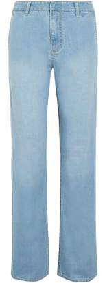 Tibi Faded Mid-Rise Straight-Leg Jeans