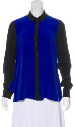 Yigal Azrouel Cut25 by Silk Colorblock Top