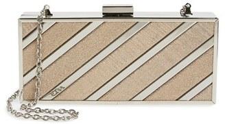 Menbur Glitter Box Clutch - Beige $156 thestylecure.com