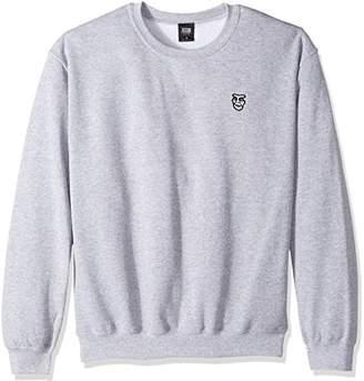 Obey Men's Box Creeper Crew Neck Fleece Sweatshirt