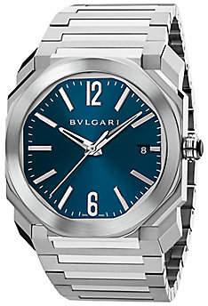 Bvlgari Men's Octo Stainless Steel Bracelet Watch