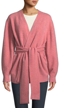 Veronica Beard Estella Open-Front Wool-Blend Cardigan