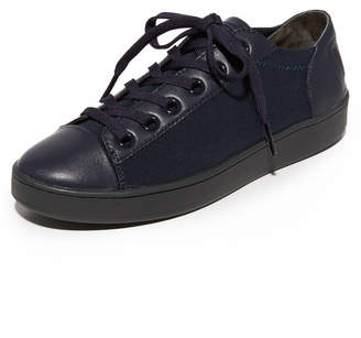 DKNY Brayden Stretch Classic Court Sneakers $148 thestylecure.com