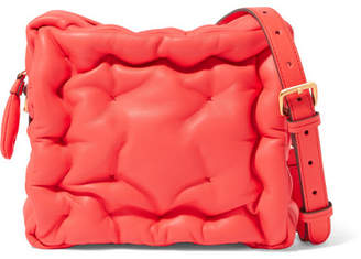 Anya Hindmarch Chubby Cube Leather Shoulder Bag - Papaya