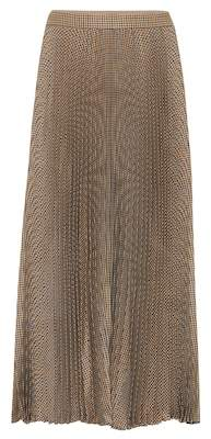 Gucci Checked pleated wool midi skirt