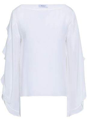 Bailey 44 Ruffle-trimmed Silk Blouse