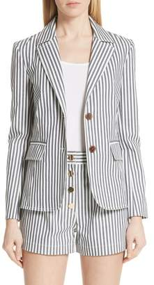 Derek Lam 10 Crosby Stripe Stretch Cotton Blazer