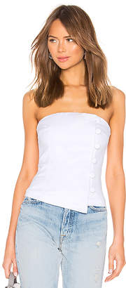 About Us Kassady Button Strapless Top