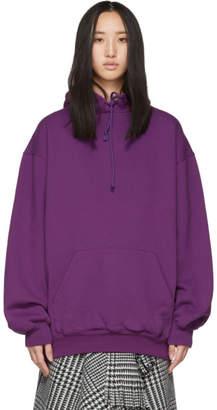 Balenciaga Purple Logo Back Hoodie