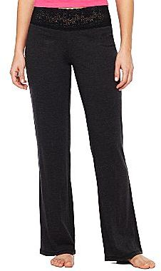 JCPenney Flirtitude® Lace Waist Sleep Pants