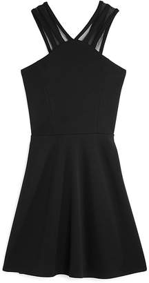 Sally Miller Girls' Malia Fit-and-Flare Dress with Mesh Straps - Big Kid