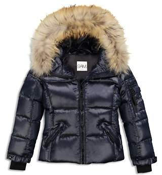 SAM. Girls' Blake Fur-Trimmed Down Jacket - Big Kid