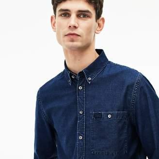 Lacoste Men's Regular Fit Indigo Poplin Shirt