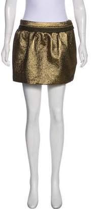 Diane von Furstenberg Jacquard Mini Wool Skirt