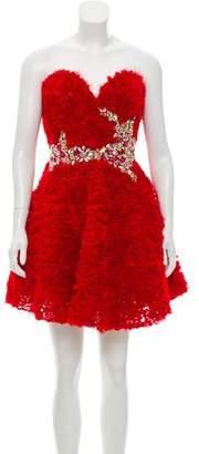 Terani Couture Embellished Sleeveless Dress w/ Tags