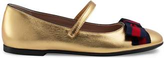 Children's metallic ballet flat with Web $365 thestylecure.com