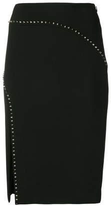 Versace embellished side-slit pencil skirt