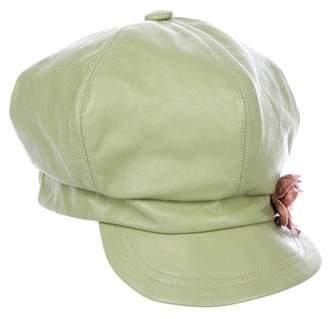 Eugenia Kim Leather Embellished Hat