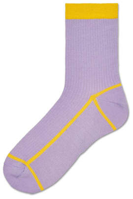 Hysteria By Happy Socks Lily Contrast-Trim Ankle Socks
