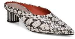 Diane von Furstenberg Nori Snake Slip-On Mules