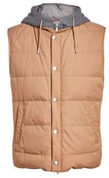 Brunello Cucinelli Hood Insert Puffer Vest