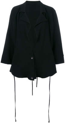 Barbara I Gongini draped fitted jacket