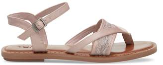 Toms Petal Pink Lace Grosgrain Women's Lexie Sandals