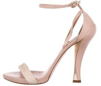 Nina Ricci LeatherAnkle Strap Sandals
