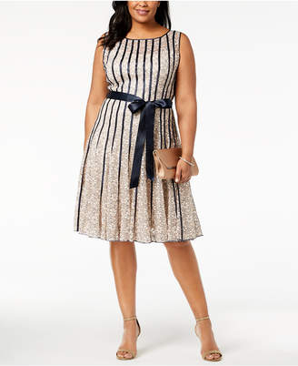 222a57d1e92 Sl Fashions Plus Size Lace Fit   Flare Dress