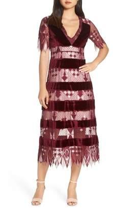 Foxiedox Aria Zulu Lace & Velvet Midi Dress