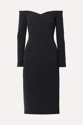 Rebecca Vallance Mondrian Off-the-shoulder Crepe Midi Dress - Black