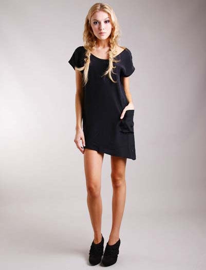 TT Collection Black Kristy Pocket Tunic
