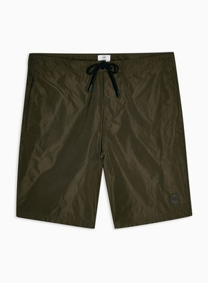 Topman Mens Khaki Board Short Swim Shorts