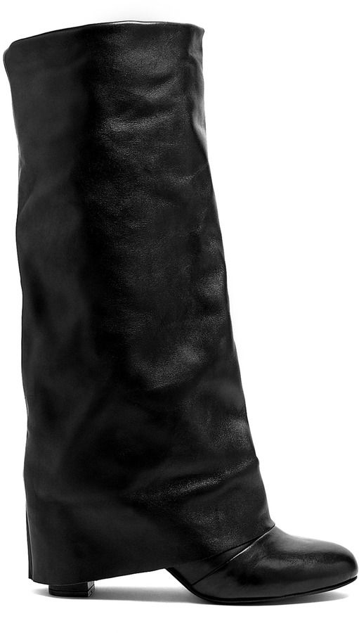 See by Chloe Shoes Black Melia Knee High Slouch Boots