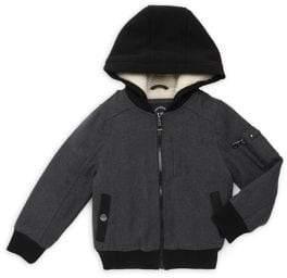 Urban Republic Little Kid's Hooded Varsity Jacket