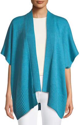 eskandar Ribbed Short-Sleeve Merino Wool Cardigan