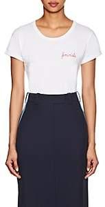 """Maison Labiche Women's """"Féministe"""" Cotton T-Shirt - White"""