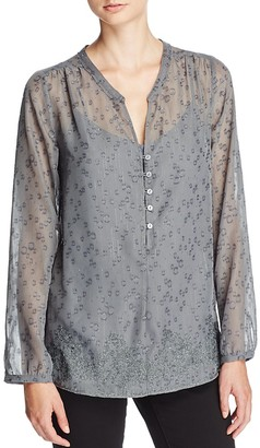 NYDJ Helen Sparkle Embroidered Blouse $118 thestylecure.com
