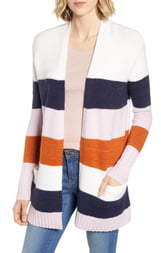 Caslon Open Front Pocket Cardigan