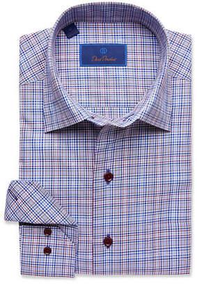 David Donahue Men's Houndstooth Check Dress Shirt